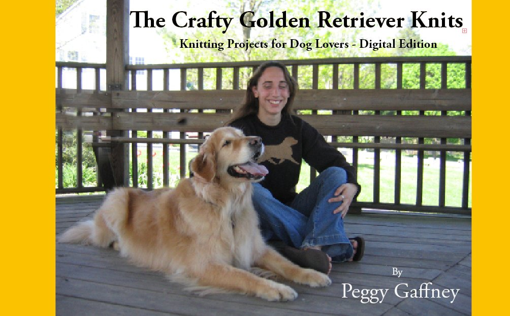 The Crafty Golden Retriever Knits - cover - for kindle